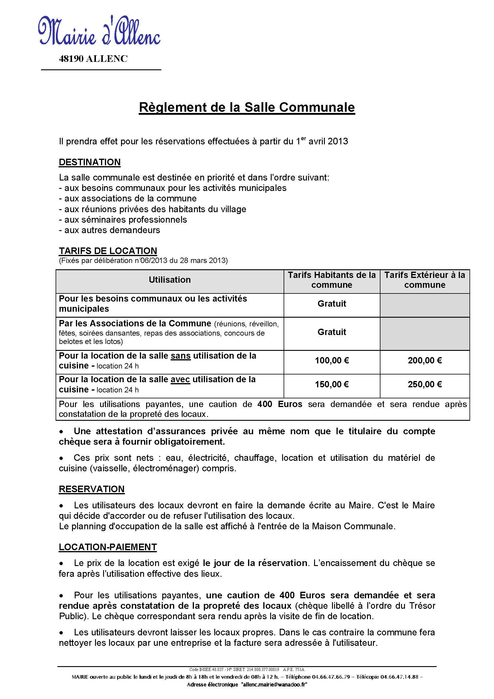 Reglement location SDF Page 1