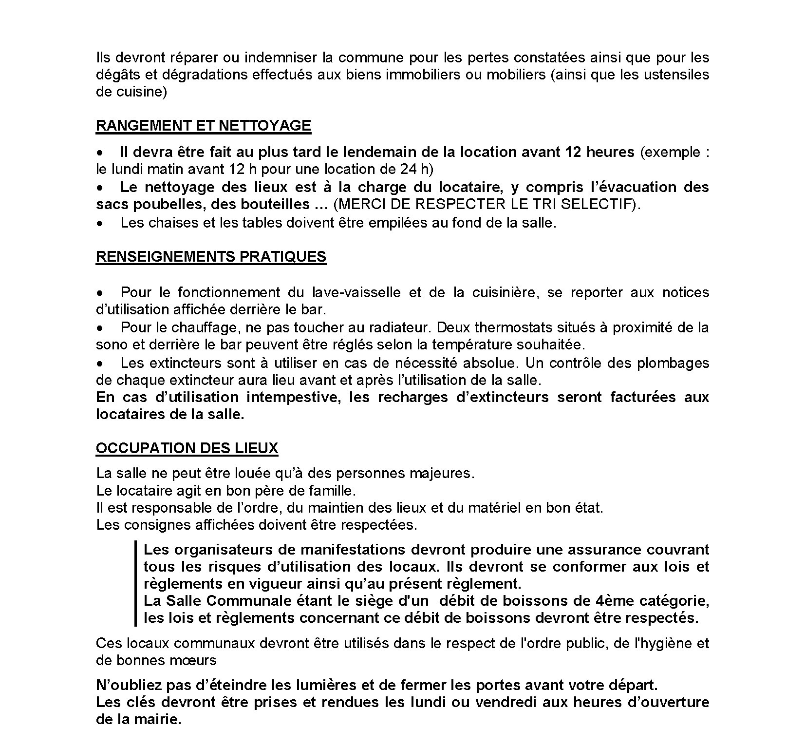 Reglement location SDF Page 2